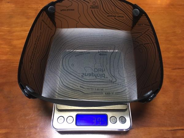 Fozzilsのソロディッシュの重さを測った写真