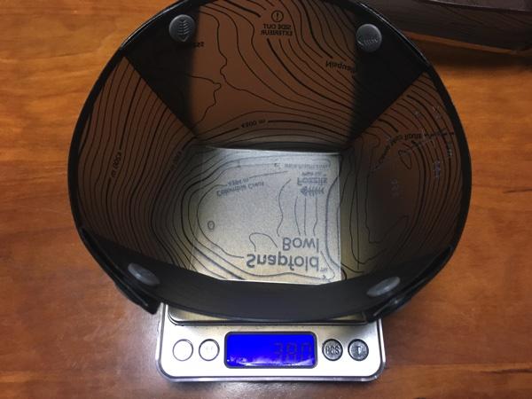 Fozzilsのソロボウルの重さを測った写真