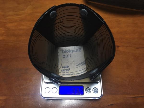 Fozzilsのソロカップの重さを測った写真