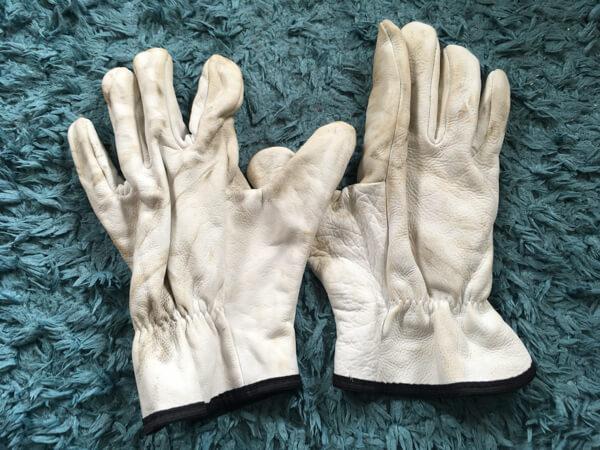 ワークマンの牛革手袋