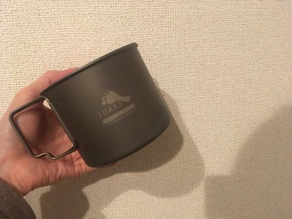 TOAKSのライトチタニウム550mlの写真