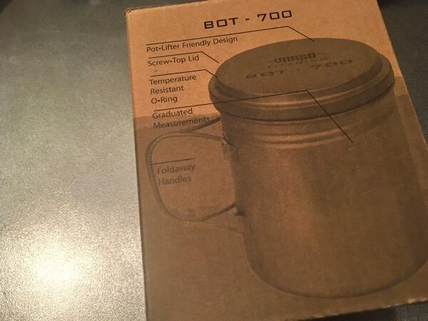 バーゴのチタニウムボットの箱の写真