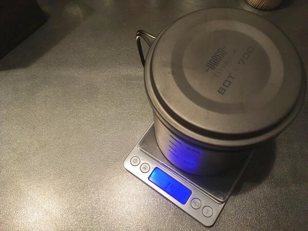 バーゴのチタニウムボットを軽量した時の写真